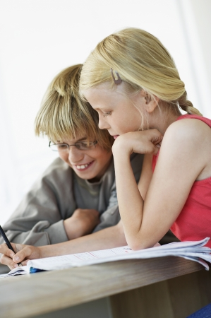 preadolescence: Children Doing Homework