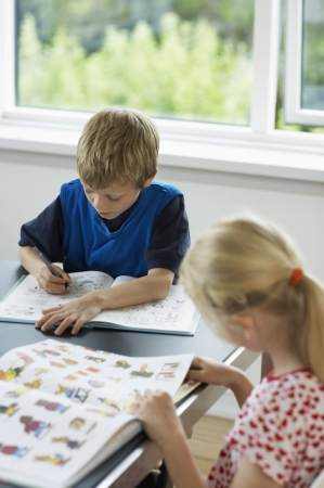preadolescence: Children Reading Books