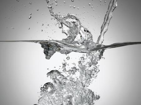 Jet splashing into water surface view Stock Photo - 19213830