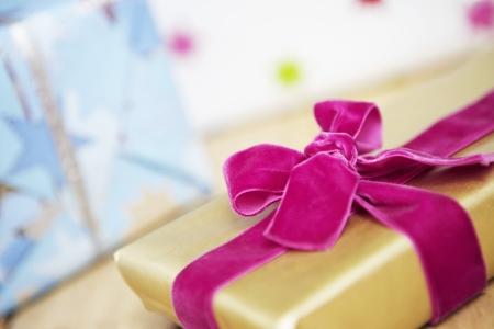mundane: Wrapped Present with Velvet Bow