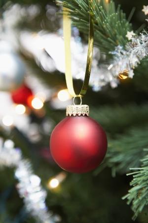 silhouettable: Ornamento di Natale su albero