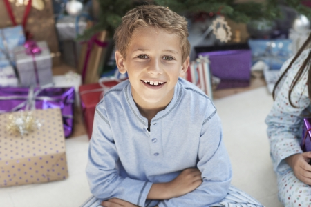 exhilarated: Excited Boy at Christmas LANG_EVOIMAGES