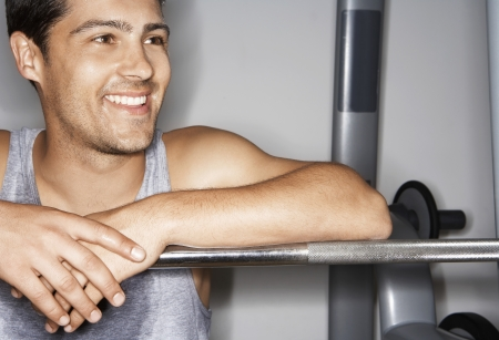 well beings: Man Lifting Weights