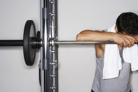 Weightlifter Resting Stock Photo - 18885598
