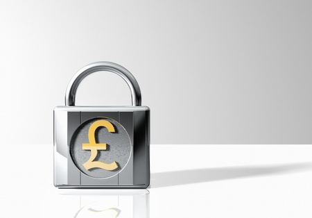 ciphering: Padlock with Pound Sterling Symbol LANG_EVOIMAGES