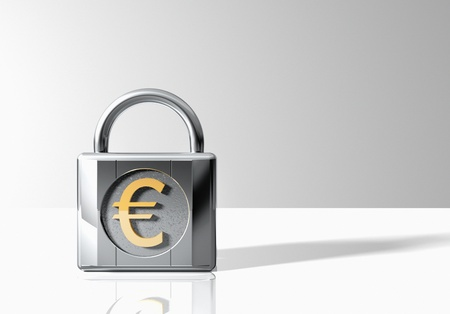 Padlock with Euro Symbol Stock Photo - 18886629