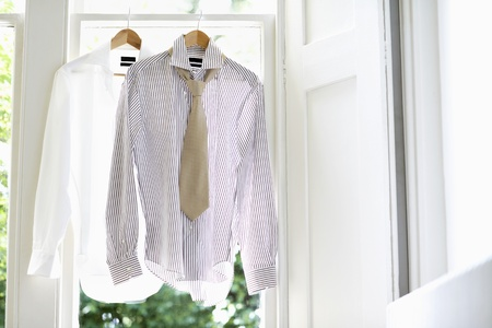 beforehand: Two Dress Shirts on Hangers