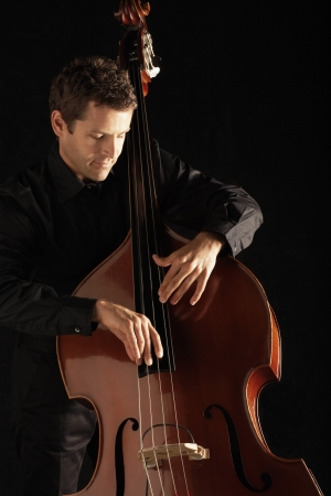 Man Playing Double Bass Stock Photo - 19213618