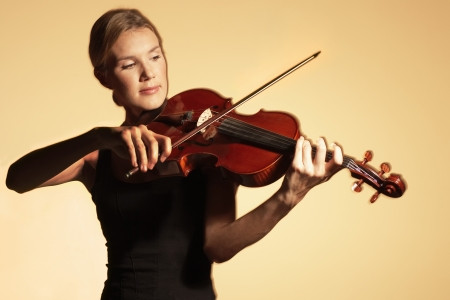 Woman Playing Viola Stock Photo - 19075871