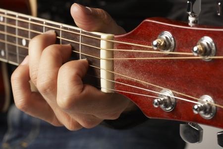 exactness: Guitarist Playing Acoustic Guitar