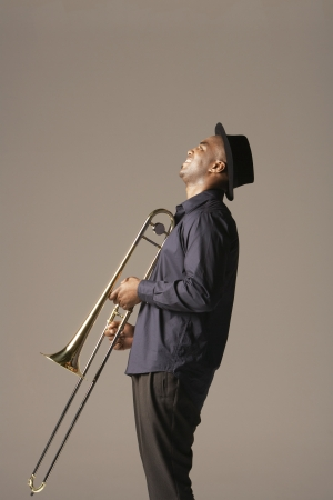 late forties: Trombonist LANG_EVOIMAGES