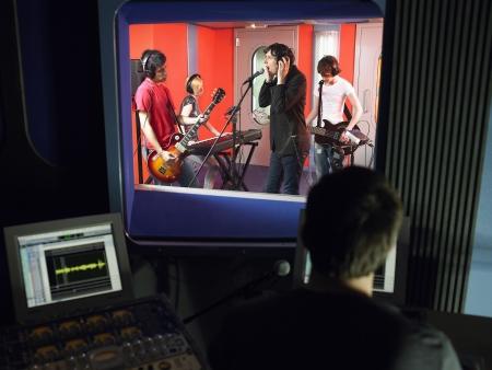 recording studio: Band in Recording Studio