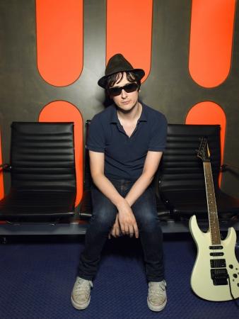 recording studio: Young Man in Recording Studio