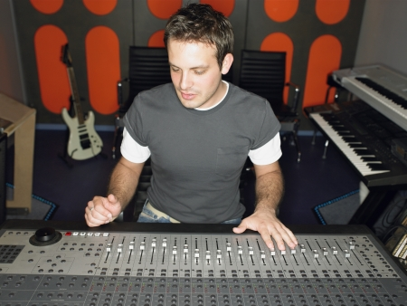 late 20s: Audio Engineer at Work