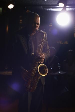 Saxophonist Playing Jazz Stock Photo - 19075879