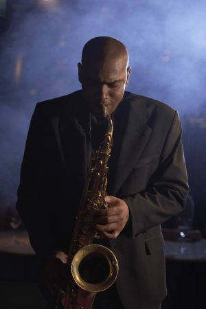african sax: Saxophonist Playing Jazz