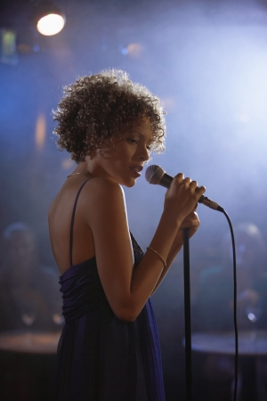 Jazz Singer Performing in Club Stock Photo - 19213784