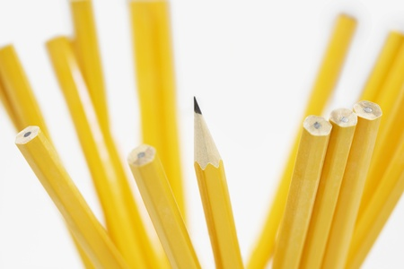 Pencils in holder close up of pencils Stock Photo - 19075905