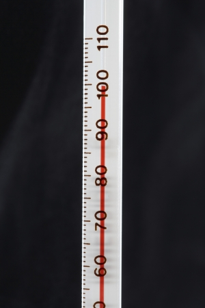 Thermometer, close-up Stock Photo