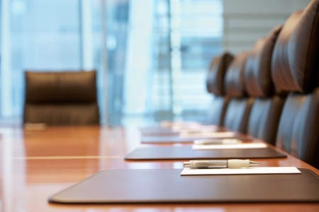Lege conferentieruimte voor de ontmoeting Stockfoto