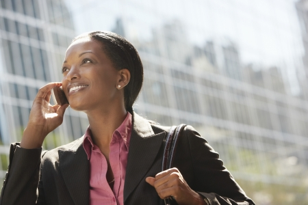 phoning: Businesswoman Phoning