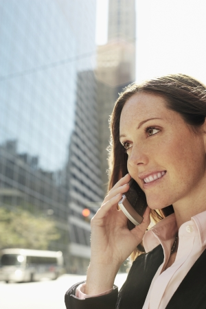 business roles: Businesswoman Phoning