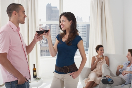 Young Adults Socializing Stock Photo - 18885548