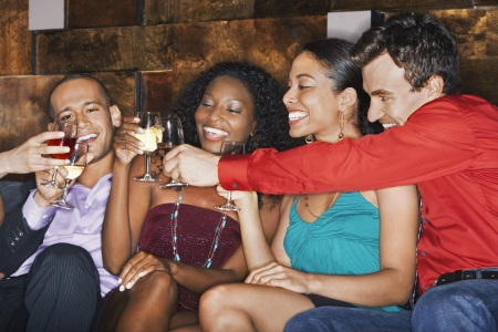 racially diverse: Friends Socializing