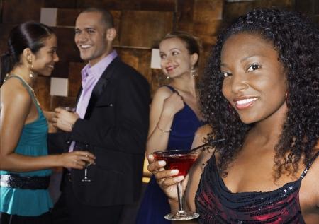 mingle: Young Woman at Bar