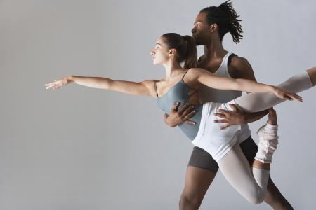 male ballet dancer: Ballet dancer supporting ballerina