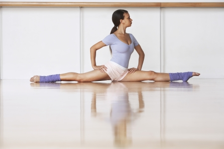 leg warmers: Dancer Stretching on floor