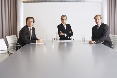 late forties: Business Executive Team in Conference Room