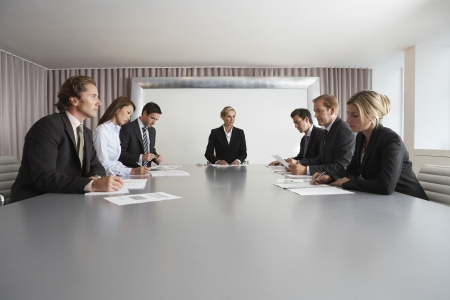 Businesspeople Meeting in Conference Room Stock Photo - 18885949
