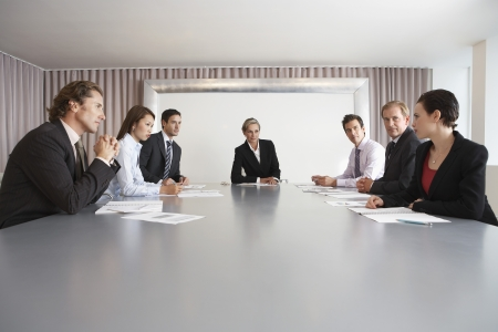 Boardroom meeting: Businesspeople in Conference Room During Meeting