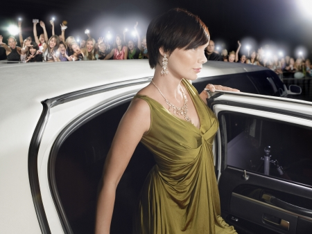 exiting: Female Star Exiting Limousine