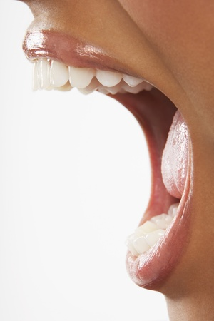mouth opened: Womans Mouth Yelling LANG_EVOIMAGES