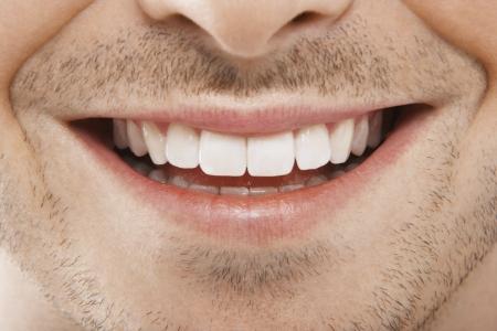 Man's Mouth Glimlachen Stockfoto