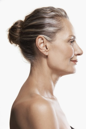 woman profile: Middle-Aged Woman