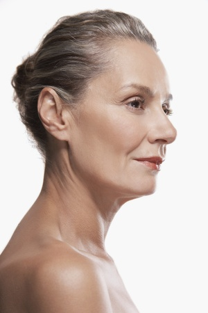 early 40s: Face of Healthy Woman