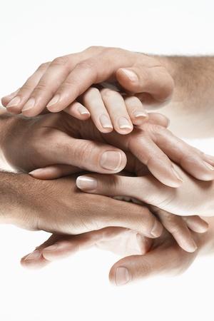mani unite: Mani insieme durante Huddle LANG_EVOIMAGES