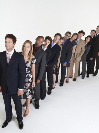 Line of Businesspeople Stock Photo - 18896336