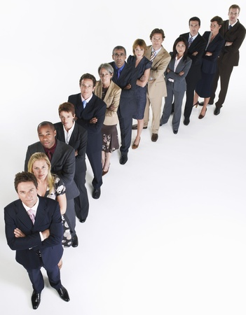 racially diverse: Line of Businesspeople