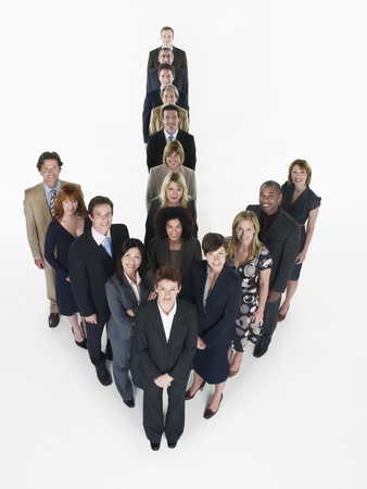 silhouettable: Gruppo di uomini d'affari Fare Freccia LANG_EVOIMAGES