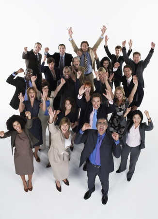 Group of Screaming Businesspeople Stock Photo - 18896351