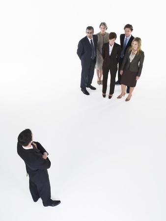 silhouettable: Imprenditore In disaccordo con il gruppo