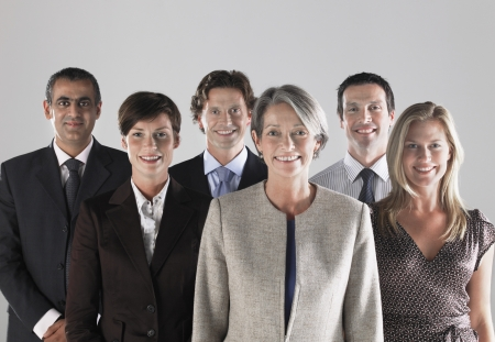 racially diverse: Group of Businesspeople