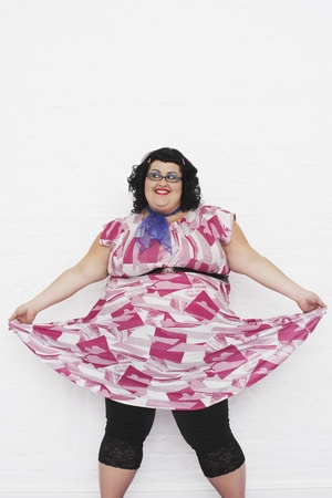nonconformity: Overweight Woman Wearing Dress