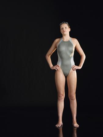 silhouettable: Nuotatore femminile