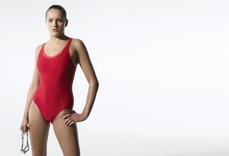 Weibliche Swimmer Standard-Bild