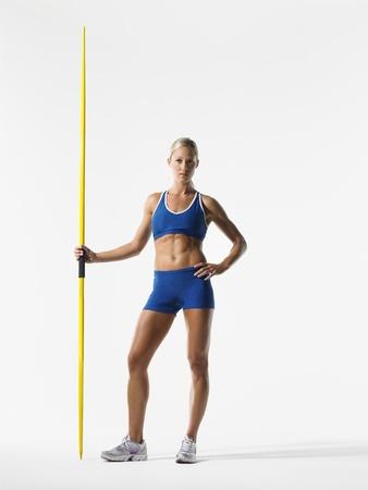 javelin: Female Athlete Holding Javelin LANG_EVOIMAGES